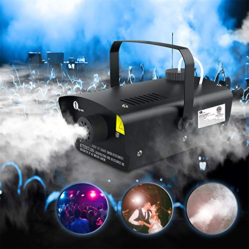 1byone Fog Machine with Wired Remote Control, 400-Watt Smoke Machine for Halloween,Christmas, Weddings, Parties & Holidays,O00QL-0041 (Black)