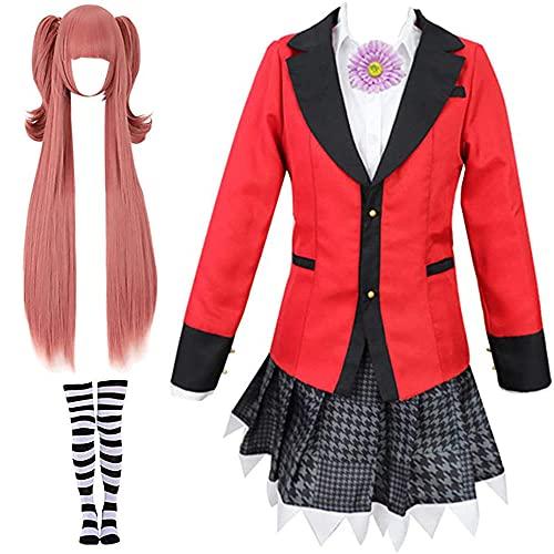 WPYY Kakegurui Anime Uniforme Escolar Cosplay Rock para juegos de rol, espectáculos o exposiciones de cómic, c, S