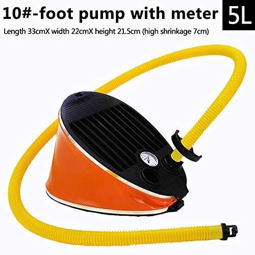 ARR Tragbare aufblasbare Fußpumpe Luftpumpe für Bootskajakfloß mit Manometer