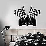 supmsds Autorennen Formel 1 Autorennen Fahnen Aufkleber Vinyl Wandtattoo Dekoration Zubehör Für Spielzimmer Mode57X74CM