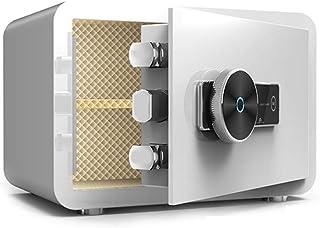 Safes Safes All-Steel Bedside Safety Cabinet Small Home Safe Office Fingerprint Unlocked Anti-Theft Box (Color : White, Si...