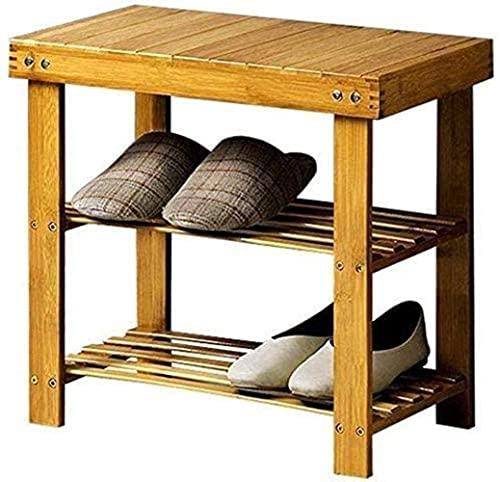 ZAIHW Zapatero Gabinete de Almacenamiento para zapateros de 2 Capas, Taburete para Zapatos Pasillo del hogar para Zapatero Gabinete Estante para estantes Taburete para Cambiar Zapatos