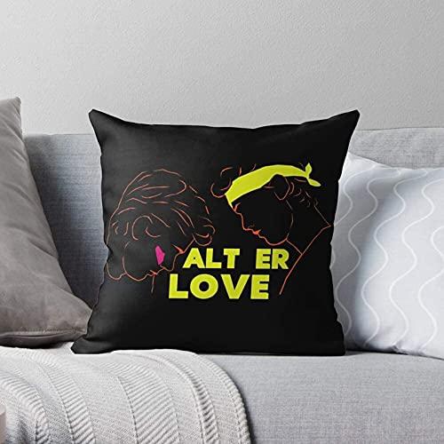 BONRI Alt Skam Even y Er Love Isak Evak Fundas de Almohada Decorativas Modernas y Ligeras de poliéster Suave para Dormitorio/Sala de Estar/sofá, Silla y Coche 17×17pulgada