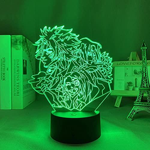 3D Night Light for Kids,Samurai &Champloo Led for Bedroom Decor Nightlight Anime Gadget Room Table Lamp Samurai &Champloo for Birthday/Xmas Gift