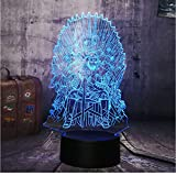 Xiaoaigejuego De Tronos Canción De Hielo Y Fuego Acrílico 3D Led Luz De Noche Lámpara De Escritorio Decoración Para El Hogar Regalo De Navidad