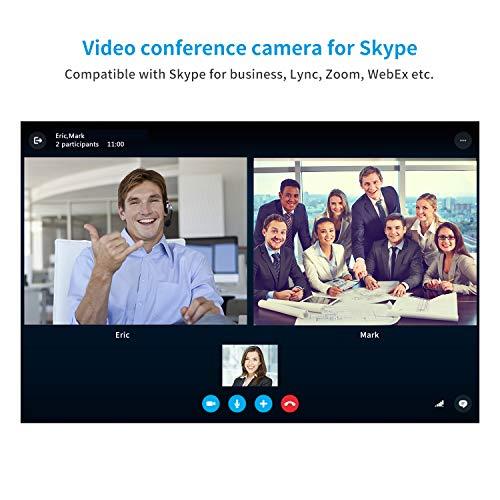 Tenveo VX3 | Konferenzkamera 3X Optischer Zoom 1080p Full-HD, Weitwinkel USB PTZ Webcam mit Fernbedienung, für YouTube/Twitch/OBS Live Streaming, Skype/Zoom Videokonferenzen