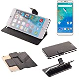 K-S-Trade® Handy Schutz Hülle Für General Mobile GM 8 Flip Cover Handy Wallet Case Slim Bookstyle Schwarz