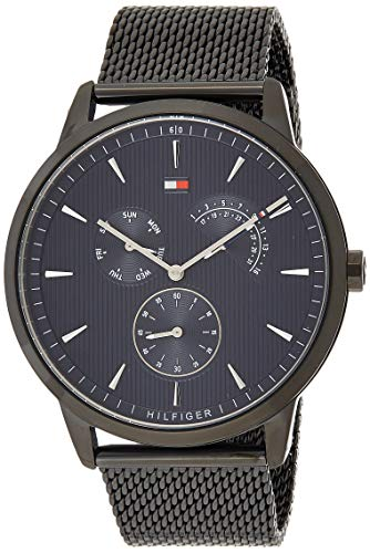 Tommy Hilfiger Herren Multi Zifferblatt Quarz Uhr mit Edelstahl Armband 1710392