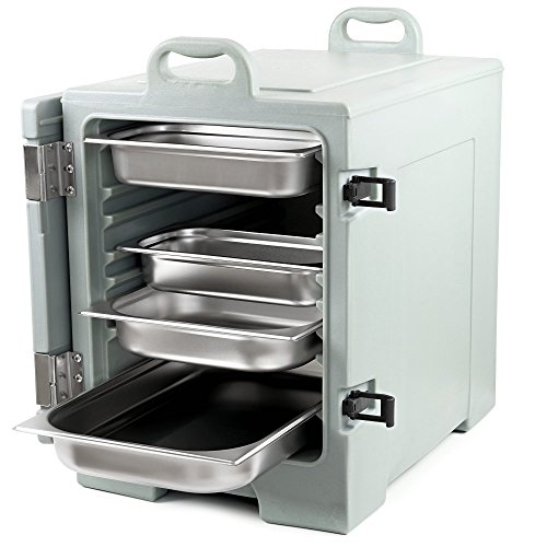 Zelsius Thermo Transportbehälter | Thermobox für 1/1 GN Gastronorm Behälter | Transportbox für Gastronomie, Party, Event, Catering, Bankett und mehr (Grau)