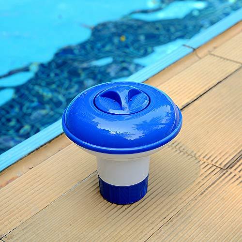 MiaoxinUK Schwimmender Chlorspender, chemischer Tablettenschwimmer für Schwimmbad, Whirlpool, Spa, Brom-schwimmender Spender – 13 x 13,5 cm
