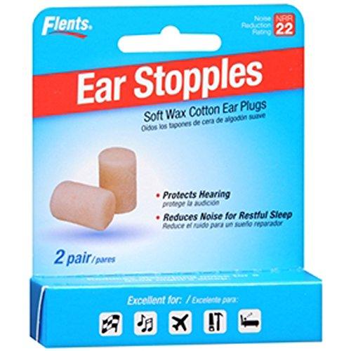 Flents Ear Stopples Ear Plugs / EarPlugs - 2 Pair