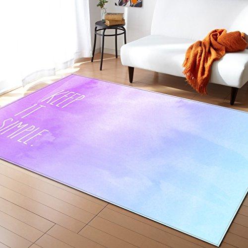 Creative Light- Tapis 3D MultiWare/Anti-Skid/Rectangulaire/Soft Pile Tapis Salon Chambre Étudier Cuisine Intérieure Mat Chevet Couverture (Couleur : #6, Taille : 120x160cm)