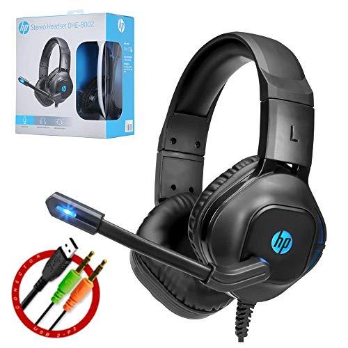 HP DHE-8002 Auriculares Gaming Estéreo USB con micrófono e iluminación LED