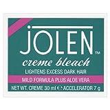 Jolen Crème décolorante à l'aloe vera, poils superflus, formule douce - Le pot de 30ml