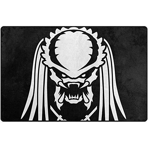 SESILY Alien Vs Predator Silhouette - Alfombra Antideslizante para el salón o Dormitorio