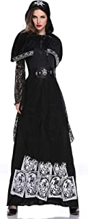 LODDD Fashion Women Halloween Cosplay Clothes Princess Dress Vintage Style Witch Dress