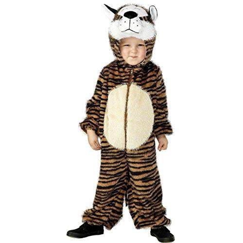 NET TOYS Costume de Tigre pour Enfant déguisement Animal Brun Taille 3-5 Ans 115/128 cm déguisement Enfant Tigre déguisement de Tigre pour Enfant Lion Costume intégra déguisement Animalier Carnaval