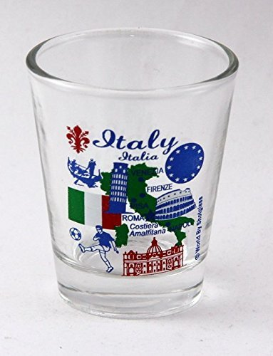 Italy EU Series Landmarks and Icons Collage Shot Glass