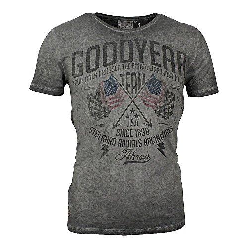 Goodyear Herren T-Shirt Fernald im lässigen Washed-Out-Look Vintage Grey, M