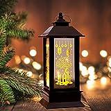 Eid Ramadán Mubarak Vela Linterna al Aire Libre Retro Portavelas Adornos Huecos Luna Estrella Luz LED Decoración Hogar Jardín Patio Pared Musulmanes Lámpara islámica Decor2