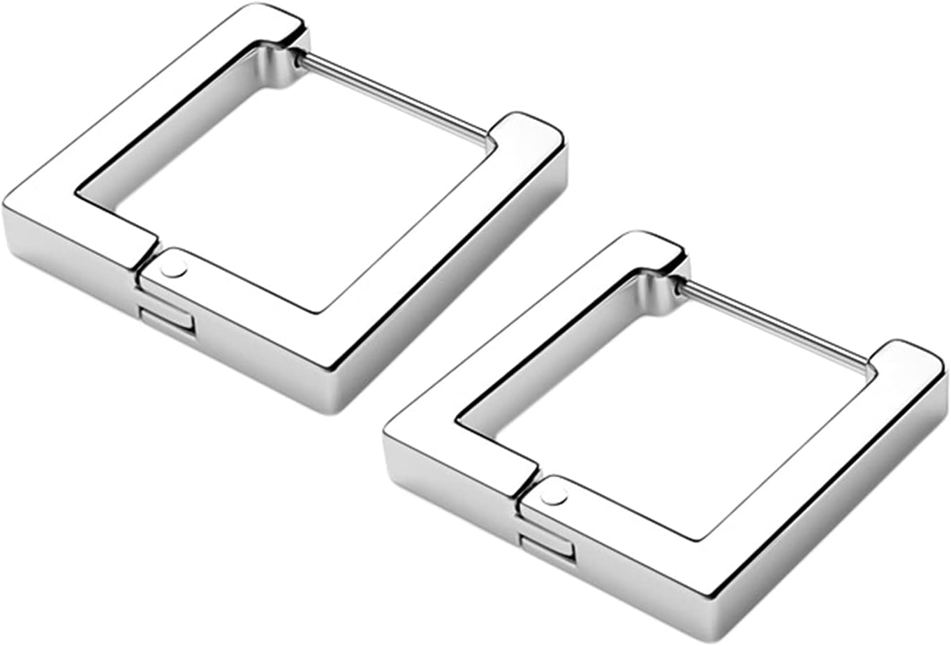LILIYUAN Super beauty product restock quality top Stainless Steel Huggie Superior Earrings H Punk Square Geometric