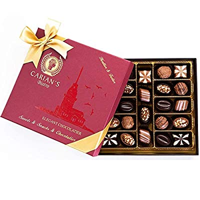 Bistro Chocolate Box Luxury Selection - Gourmet Truffles - Natural and Healthy Snacks Pack for Adults & Kids - Valentines, Birthday, Anniversary Boyfriend Gifts for Women - Party Favors