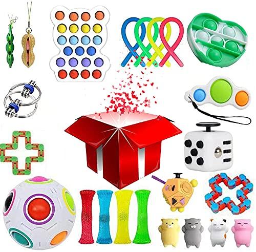 CYYX Artículos misteriosos, 30 Juegos de Juguetes aleatorios para la yema de los Dedos, Juguetes sensoriales para Adultos y niños, Herramientas para aliviar la ansiedad y el estrés