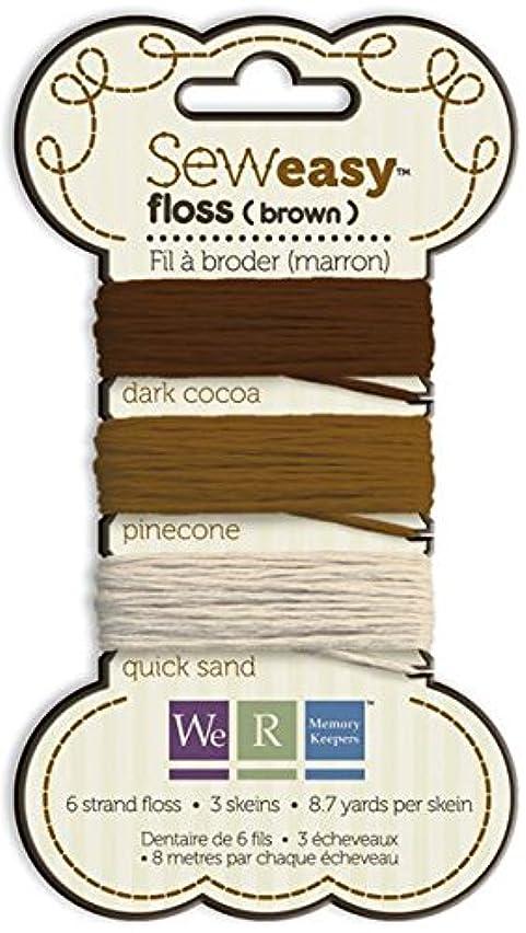 We R Memory Keepers 71068-4 Sew Easy Floss, Brown