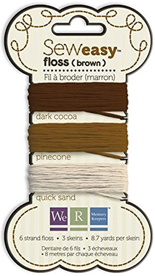 We R Memory Keepers 71068-4 Sew Easy Floss, Brown