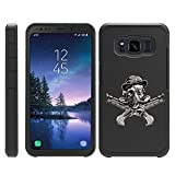 turtlearmor | kompatibel für Samsung Galaxy S8 Active Schutzhülle | G892 | Slim Fit Dual Layer Hard Armor Hybrid Shell Fall -, Steampunk Skull