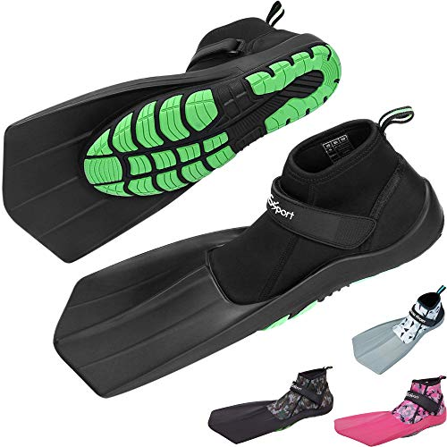 Khroom® zwemschoenen om te snorkelen en te lopen op het strand | bekend van YouTube | veilig voor land en in het water