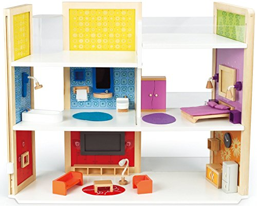 Hape Kreatives Traumhaus Holz Puppenhaus