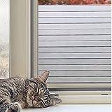 Concus-T Estática aferran vinilo premium Frosted rayas de privacidad lámina para ventanas de cristal de las ventanas de cristal de la puerta 90x200cm