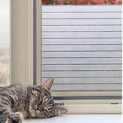 Concus-T Selbstklebend statische Fensterfolie Sichtschutzfolie Glasdekorfolie Streifen Folie für Büro 90x200cm