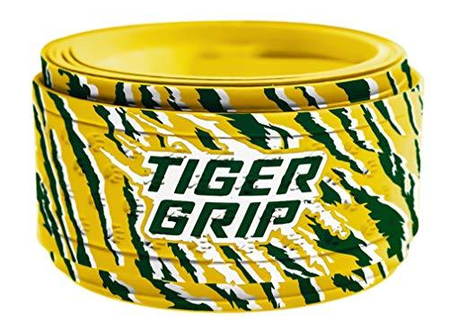 Tiger Grip Bat Wrap/Bat Tape for Baseball and Softball - 0.5mm - Green Machine(Green,Amber,White)