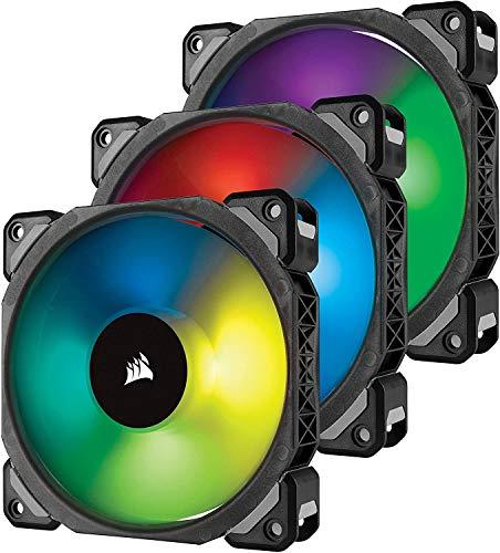Corsair ML120 PRO Ventilador de PC (120 mm, Levitación Magnética, iluminación LED Azul) Paquete Soltero,LED RGB,ML Pro 120 mm