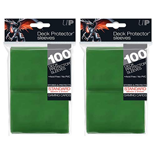 Ultra Pro Standard Solid Green Deck Protector Sleeves for Gaming Cards (200-Count)