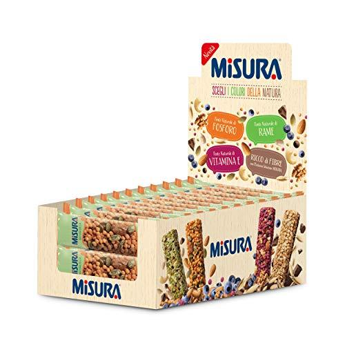 Misura Snack Cereali Natura Ricca | Barrette Cereali, Semi di Zucca, Mandorle e Baobab | Confezione da 375g