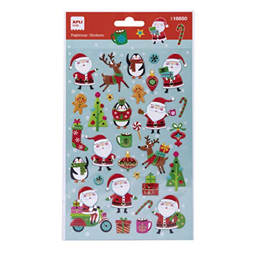 APLI Kids 18550 - Pegatinas Navidad Vespa Papá Noel 1 hoja