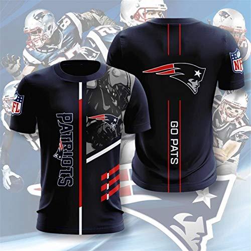 Xiaolimou NFL T-Shirts 2021 New England Patriots Fans Jersey Breath Leichtathletik Sommer-Der Losen Tee XXS-5XL, Bequem Und Atmungsaktiv, Maschinenwaschbar, Wird Nicht Verblassen,L