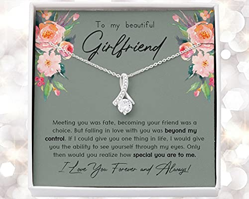 Meaningful Necklace for Girlfriend, Cute Gift for Girlfriend, Girlfriend Birthday, Anniversary, Jewelry for Girlfriend, Romantic, Thoughtful