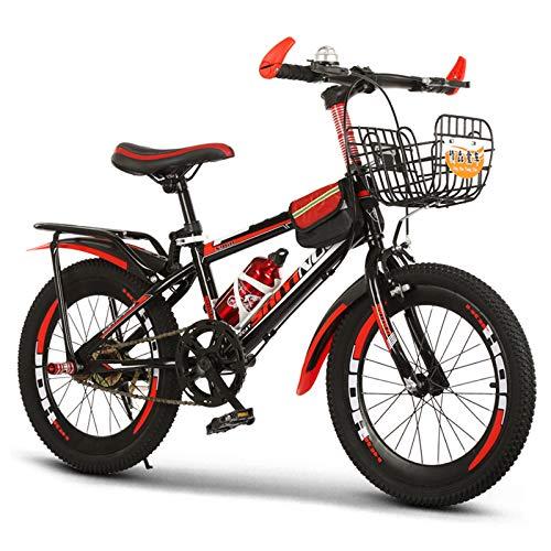 GZMUK Kinder Mountainbike 18/20/22/24 Zoll Rahmen Aus Kohlenstoffstahl Geeignet Für Kinder Ab 8 Jahren,Rot,24 in