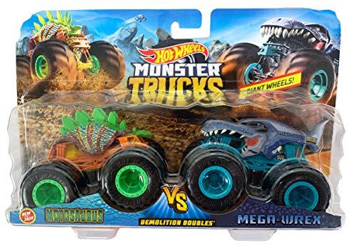 Hot Wheels Monster Trucks Demolition Doubles Motosaurus VS Mega-Wrex (1:64 Scale)