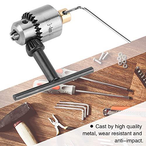 Boorkop, Micro 0,3-4 mm JTO conische boorkop en sleutel met sleutel voor elektrische boormachine