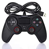 YFish Controller, kabellos, für PS4, klassischer Controller, Vibration, tragbar, Playstation, 4 USB, wiederaufladbar, Bluetooth, kompatibel mit Konsole, PS4, Windows, PSTV