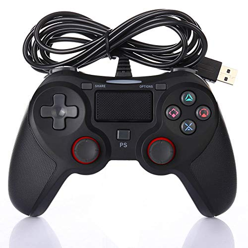 YFish Controller, kabellos, für PS4, klassischer Controller, Vibration, tragbar, Playstation, 4 USB, wiederaufladbar, Bluetooth, kompatibel mit Konsole, PS4, Windows, PSTV