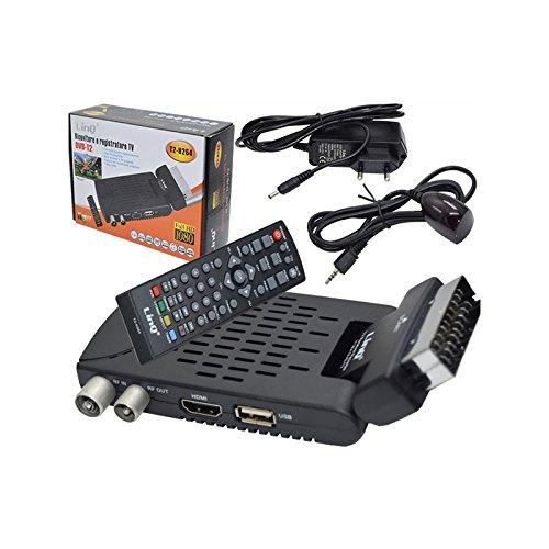 Decoder Ricevitore Digitale Terrestre Dvb-T2 Full HD H.264 Hdmi Con Funzione PVR (Videoregistratore) e MediaPlayer