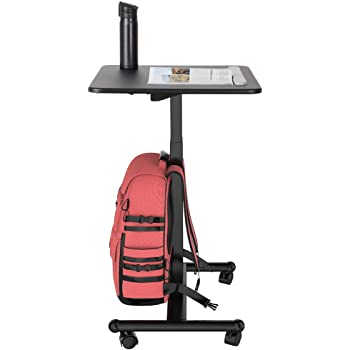 Flexispot MT3 Sit-Stand Mobile Laptop Desk Rolling Computer Cart Height Adjustable from 29.3 Inches to 45 Inches