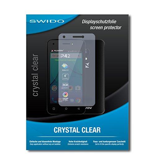SWIDO Schutzfolie für Allview P42 [2 Stück] Kristall-Klar, Hoher Festigkeitgrad, Schutz vor Öl, Staub & Kratzer/Glasfolie, Bildschirmschutz, Bildschirmschutzfolie, Panzerglas-Folie