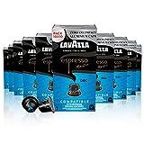 Lavazza Espresso Maestro Dek, Arábica y Robusta, Tueste Medio, Cápsulas de Aluminio Compatibles con las Máquinas Nespresso Original, Formato de 100 Cápsulas